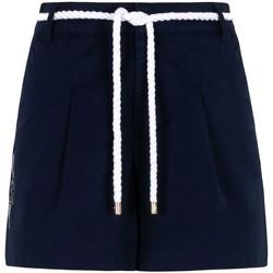 Vêtements Femme Shorts / Bermudas Ea7 Emporio Armani 3KTS54 TN3EZ Bleu