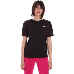 Vêtements Femme T-shirts manches courtes Diadora 102175873 Noir