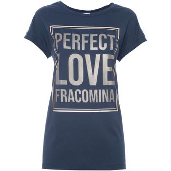Vêtements Femme T-shirts manches courtes Fracomina FR21ST3012J40615 Bleu