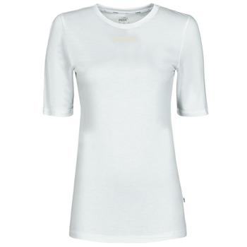 Vêtements Femme T-shirts manches courtes Puma MBASIC TEE Blanc