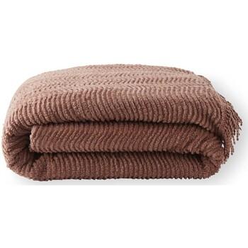 Maison & Déco Couvertures Carre D Azur Jeté de lit en tuft qualité classique marron