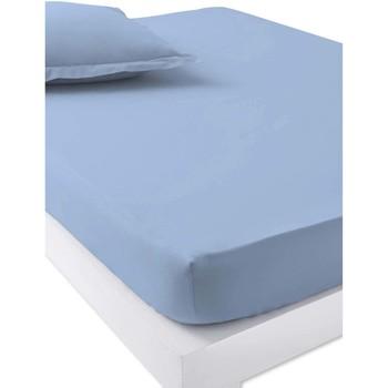 Maison & Déco Draps housse Carre D Azur Draps-housses bonnets 40cm bleuciel