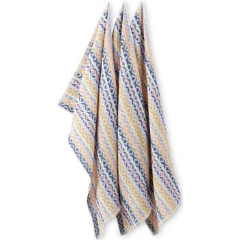 Maison & Déco Torchons Carre D Azur Le lot de 6 essuie-mains en éponge motifsfantaisie