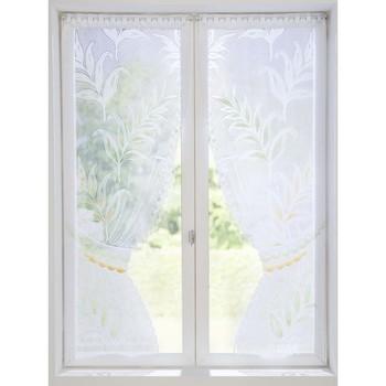 Maison & Déco Rideaux, stores Carre D Azur Paire de vitrages préformés décor palmes peint