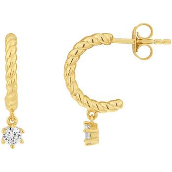 Montres & Bijoux Femme Boucles d'oreilles Solis Demi-créoles  en Argent 925/1000 Jaune et Oxyde Jaune