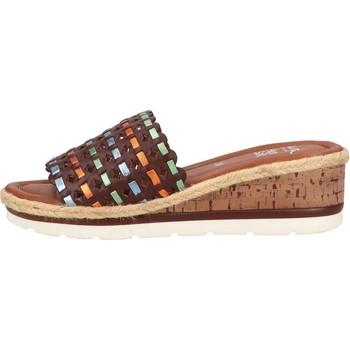Chaussures Femme Mules Ara Sandale Compensée Cuir Cadiz Velour Multi