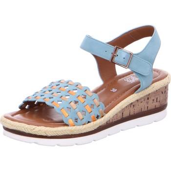 Chaussures Femme Sandales et Nu-pieds Ara Sandale Compensée Cuir Cadiz Velour Multi