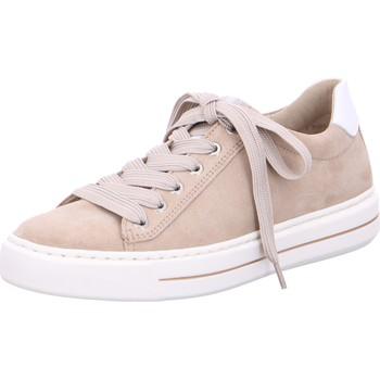 Chaussures Femme Baskets basses Ara Basket Cuir Courtyard Blanc/Sable