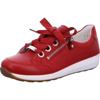 Chaussures Femme Baskets basses Ara Basket Cuir Osaka Rouge