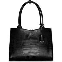 Sacs Femme Sacs porté épaule Socha 14 pouces Midi Croco Noir