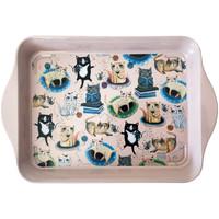 Maison & Déco Vides poches Le Monde Des Animaux Petit plateau les chats - Michelle Allen 21 x 14 cm Rose