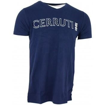 Vêtements Homme T-shirts manches courtes Cerruti 1881 Acquiterme Bleu Marine