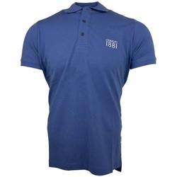 Vêtements Homme Polos manches courtes Cerruti 1881 Genova Bleu Denim