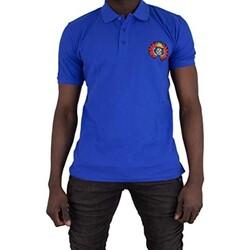 Vêtements Homme Polos manches courtes Cxl By Christian Lacroix Ary Bleu Roi