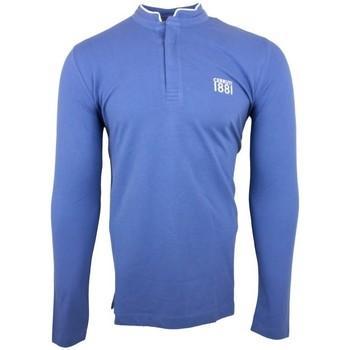 Vêtements Homme Polos manches longues Cerruti 1881 Firenza Bleu Denim