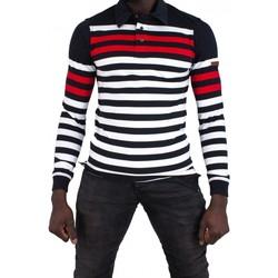 Vêtements Homme Polos manches longues Cerruti 1881 Campania Noir