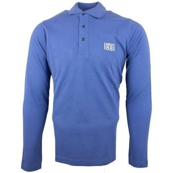 Vêtements Homme Polos manches longues Cerruti 1881 Genova Bleu Denim