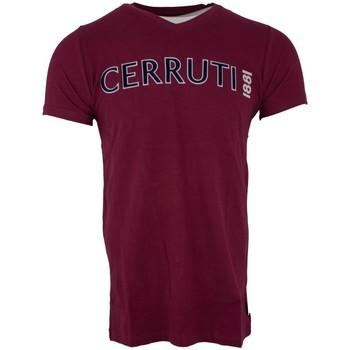 Vêtements Homme T-shirts manches courtes Cerruti 1881 Acquiterme Bordeaux