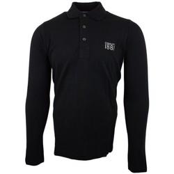 Vêtements Homme Polos manches longues Cerruti 1881 Genova Noir