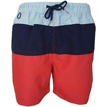 Vêtements Homme Maillots / Shorts de bain Pierre Cardin Mariano Bleu Ciel, Bleu Marine, Rouge