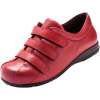 Chaussures Femme Derbies Pediconfort Derbies à scratch pour pieds sensibles rouge