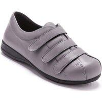 Chaussures Femme Derbies Pediconfort Derbies à scratch pour pieds sensibles gris