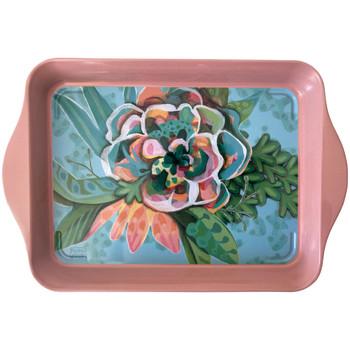 Maison & Déco Vides poches Zen Et Ethnique Petit plateau Blooms - Michelle Allen 21 x 14 cm Vert