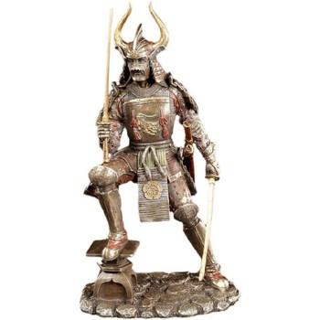 Maison & Déco Statuettes et figurines Zen Et Ethnique Statue Samurai Art aspect bronze Marron