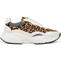 Chaussures Femme Baskets basses Ed Hardy - Insert runner-wild white/leopard Blanc