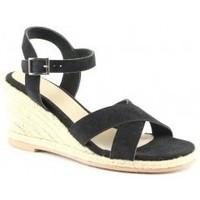 Chaussures Femme Sandales et Nu-pieds Manoukian Sandales Sandrine Noir