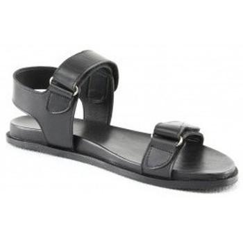 Chaussures Femme Sandales et Nu-pieds Manoukian Sandales Sandy Noir