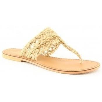 Chaussures Femme Tongs Manoukian Mules Vanessa Beige