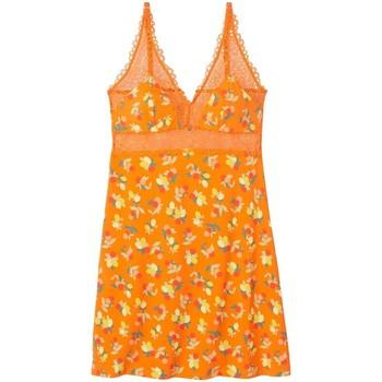 Vêtements Femme Pyjamas / Chemises de nuit Pommpoire Nuisette imprimé orange Nouméa Orange