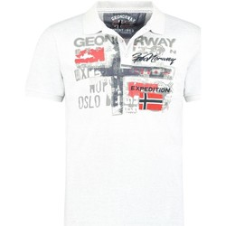 Vêtements Homme Polos manches courtes Geographical Norway Polo Homme Ketchup 415EO Blanc