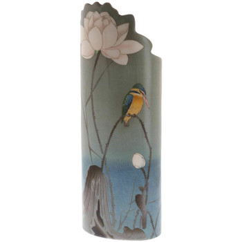 Maison & Déco Vases, caches pots d'intérieur Muzeum Vase en céramique silhouette Ohara Koson - Martin-pêcheur Vert