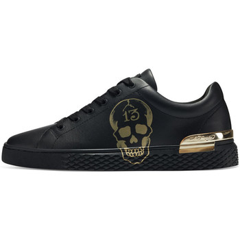 Chaussures Baskets mode Ed Hardy Lucky low top black-gold Noir