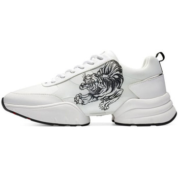 Chaussures Baskets mode Ed Hardy Caged runner tiger white-black Blanc