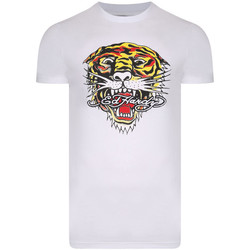 Vêtements T-shirts manches courtes Ed Hardy Tiger mouth graphic t-shirt white Blanc