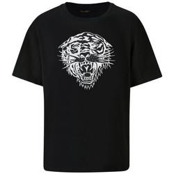 Vêtements Homme T-shirts manches courtes Ed Hardy Tiger-glow t-shirt black Noir
