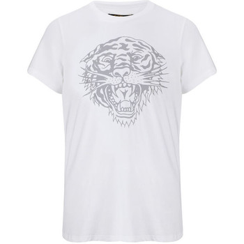 Vêtements T-shirts manches courtes Ed Hardy Tiger-glow t-shirt white Blanc