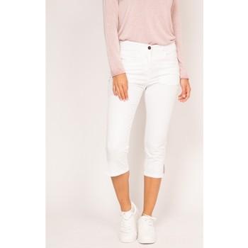 Vêtements Femme Pantacourts Ritchie Pantacourt slim en coton stretch XETRA Blanc