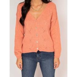 Vêtements Femme Gilets / Cardigans Dona X Lisa Gilet KALISSY Corail