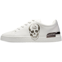Chaussures Homme Baskets basses Ed Hardy - Lucky low top white-gunmetal Blanc