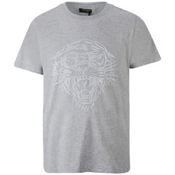 Vêtements Homme T-shirts manches courtes Ed Hardy - Tiger glow t-shirt mid-grey Gris