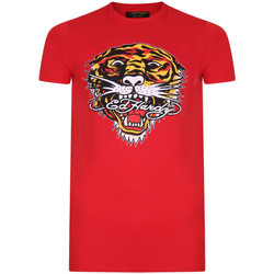 Vêtements Homme T-shirts manches courtes Ed Hardy - Tiger mouth graphic t-shirt red Rouge