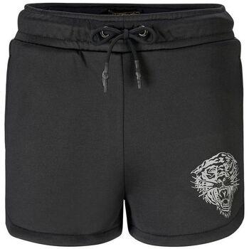 Vêtements Femme Shorts / Bermudas Ed Hardy - Tiger glow runner short black Noir