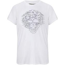 Vêtements Homme T-shirts manches courtes Ed Hardy - Tiger-glow t-shirt white Blanc