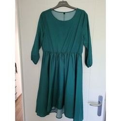 Vêtements Femme Robes courtes Casual Attitude Robe Casual Manches 3/4 Mi-longue Verte Vert