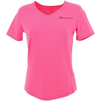 Vêtements Femme T-shirts manches courtes Champion Fitness raye tee lady Rose
