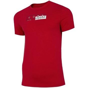 Vêtements Homme T-shirts manches courtes 4F TSM021 Rouge